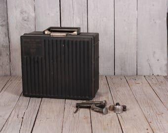 Vintage suitcase - Small size suitcase - Bakelite suitcase - Bakelite tool box  - 1960s suitcase - Vintage tool box - Trinkets old box
