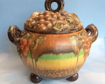 Rare Stunning Large Vintage Steuler Pottery German Art Deco Soup Tureen