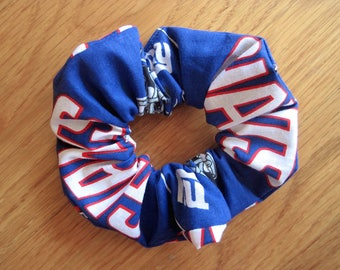Sports Scrunchies Handmade from New York Giants NFL Cotton American pro football team Ponytail hair holder Women Cheerleader Fans Coach Gift