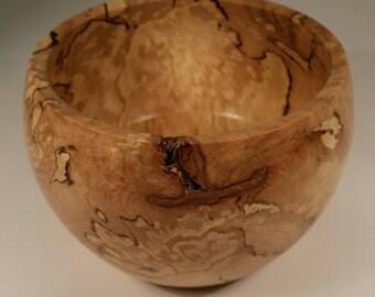 Collectors tea bowl 12cm wide in spalted hornbeam