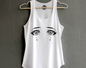 Anime Shirt - Anime T-Shirt Anime Eye Shirt Funny Shirts graphic t-shirts White Tank Top Womens