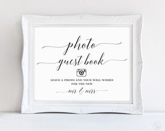 Photo Guest Book Sign, Wedding Guest Book Sign, Wedding Reception Sign