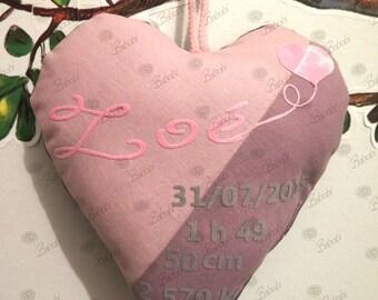 Heart birthstone, children's room decoration
