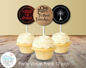 Middle Earth/Elvish Party Printables Value Pack, Instant Download