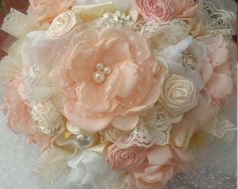 Blush Fabric Bouquet