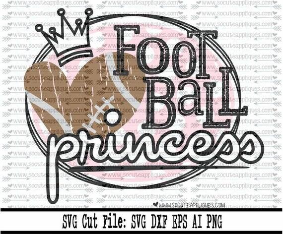 Football Svg Cut File Football Princess Svg File