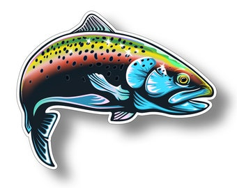 Rainbow Trout Sticker Printed Digital Vinyl Decal Fish Fishing Car Truck Boat Kayak SUP Laptop