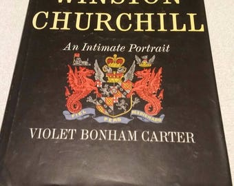 1965 Hardcover book Winston Churchill an intimate portrait Violet Carter