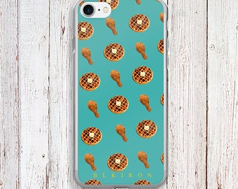 Clear Phone Case - Chicken and Waffles Clear Phone Case - Chicken and Waffles case - iPhone Regular case