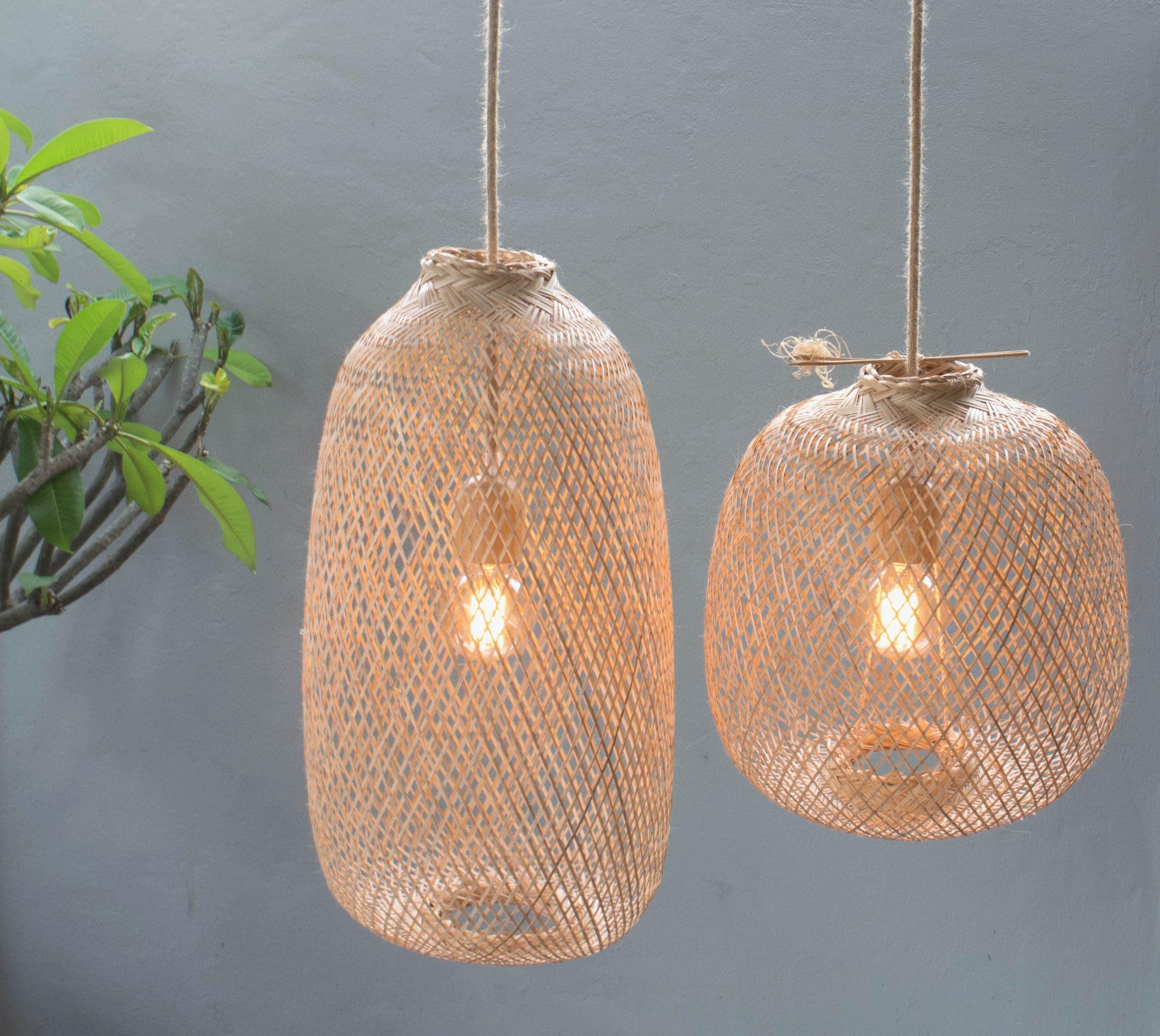 Bamboo Pendant Light Handmade Wooden Pendant Lamp Hanging