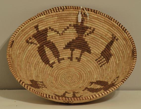 Basket African Botswana Beige Brown People South Africa Handmade Woven Palm Women Storage Food Basket