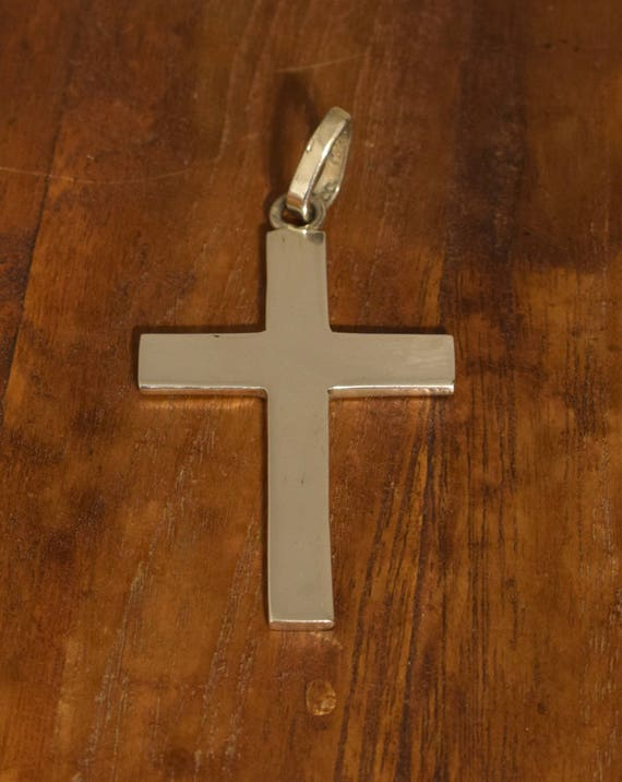 Cross Sterling Silver Pendant Necklace Religious Jewelry Sterling Silver Cross