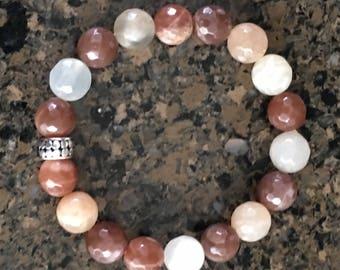 CB11446 | Mixed Moonstone Bracelet | Design by Clarice