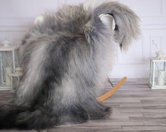 Icelandic Sheepskin | Real Sheepskin Rug | I Gray Sheepskin Rug | Fur Rug | Christmas Decorations #novisl8