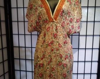 Boho summer cotton dress