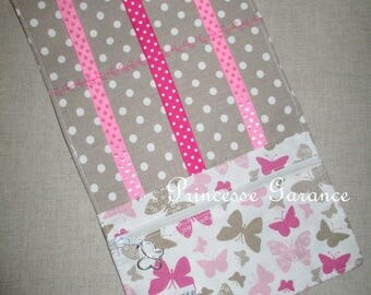 Clutch pins and elastic cotton butterflies