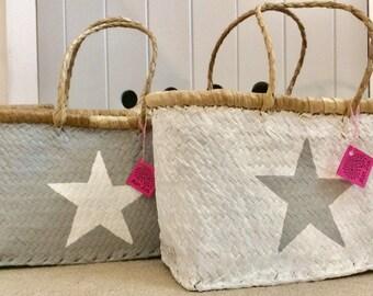 Easter Basket Market Basket, Star Straw Beach Basket / Shopping Basket Limited Edition