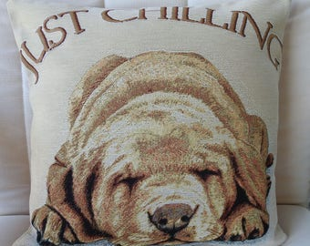 Just Chilling Tapestry Cushion Cover