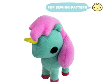 Pony Toy Pattern, Pony Pattern, Pony Sewing Pattern, Pony Toy Sewing, Toy Pony, Plush Pony PDF, PDF Pony, Pony Plush Toy, Toy Sewing Pattern