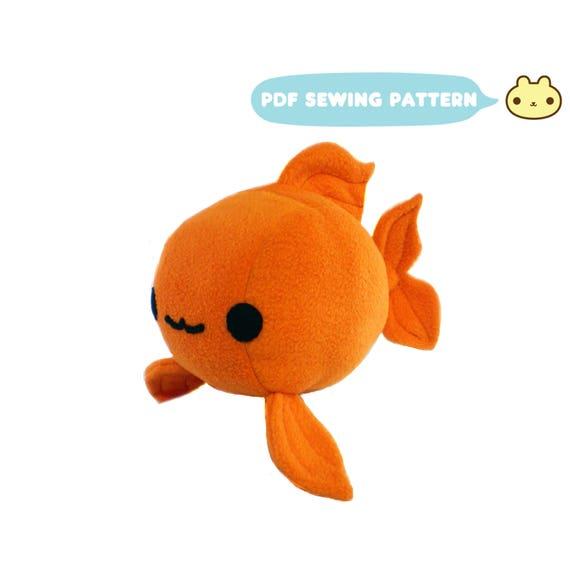 Goldfish plush sewing pattern koi toy pdf plush gold for Koi fish plush