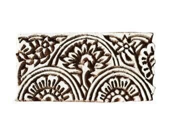 Flower Border  Stamp Indian Wood Stamp Wood Block Stamp