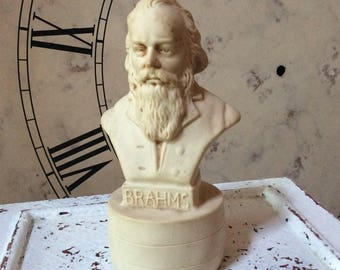 Johannes Brahms Bust Small Musician Statue Classical Music Composer Figurine