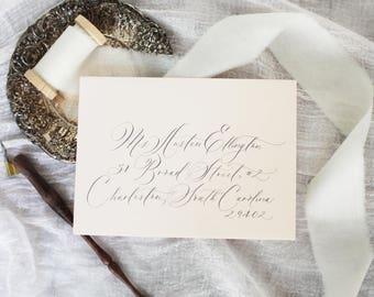 Wedding or Event envelope calligraphy, Austen script