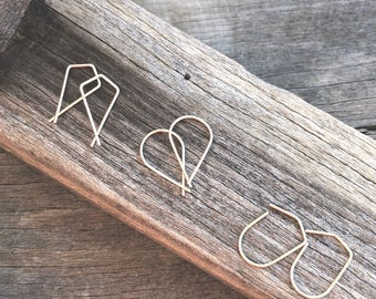 Gold Filled Geometric Earrings