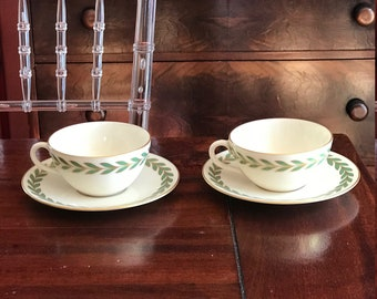 Service for 9 Lenox Athenia coffee/tea cups and saucers