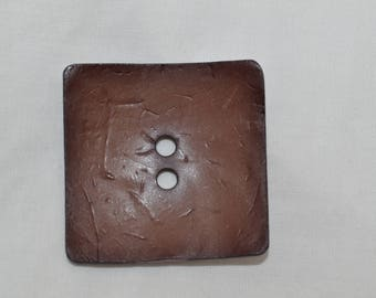wholesale buiding Cork, 50 mm square wood button
