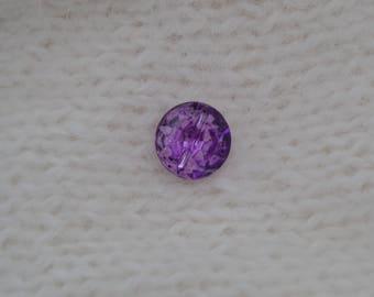 button rhinestone 11mm purple cabochon
