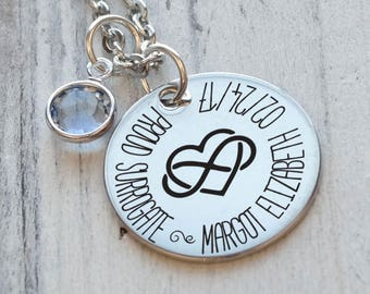 Proud Surrogate Personalized Necklace - Engraved
