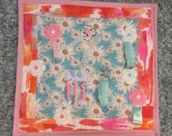 Handmade Dementia Fidget Quilt Tactile Lap Blanket Sensory Alzheimers