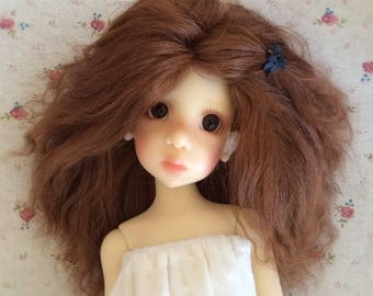 Custom made  mohair wig Bjd mohair wig BJD doll outfit doll wig