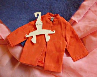 Ken 1969 *GURUVY FORMAL #1431 Super Mod 0range Nehru Jacket Coat -Vintage Barbie Outfit