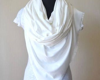 white scarf wedding shawl womens gift-for-women bridal shawl bridal cover up wedding scarf cotton scarf wedding gift-for-mom womens scarves