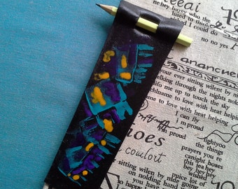 "Bookmark leather ""super note"""