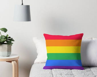 Rainbow Toss Pillow, Rainbow Pillow Cover, Rainbow Nursery, Rainbow Room, Rainbow Bedding, Rainbow Throw Pillow, Rainbow Pillow, Rainbow