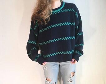 Vintage 90s Zig Zag Sweater