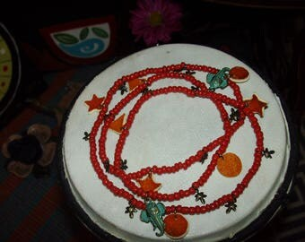 Root Chakra Sacral Chakra waist beads made with real orange peel