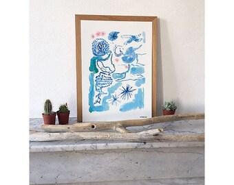 Watercolor poster