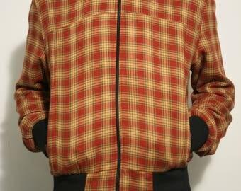 Check Zip Up Jacket