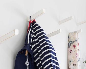 Rustic White Oak Coat Hooks   Inclined Angle   Coat Hook   Wall Hooks   Universal Wall Hook ***New Product***