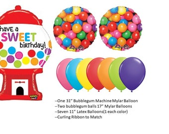 Bubblegum Ball Balloon Set, Bubblegum Machine balloon