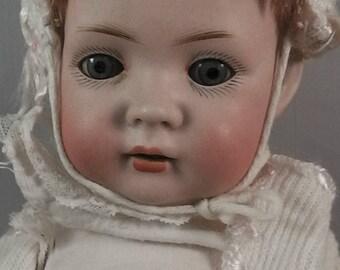 antique Bruno Schmidt baby doll ,porcelain doll, no.:2097 Baehr Broeschildt for Bruno Schmidt circa 1911