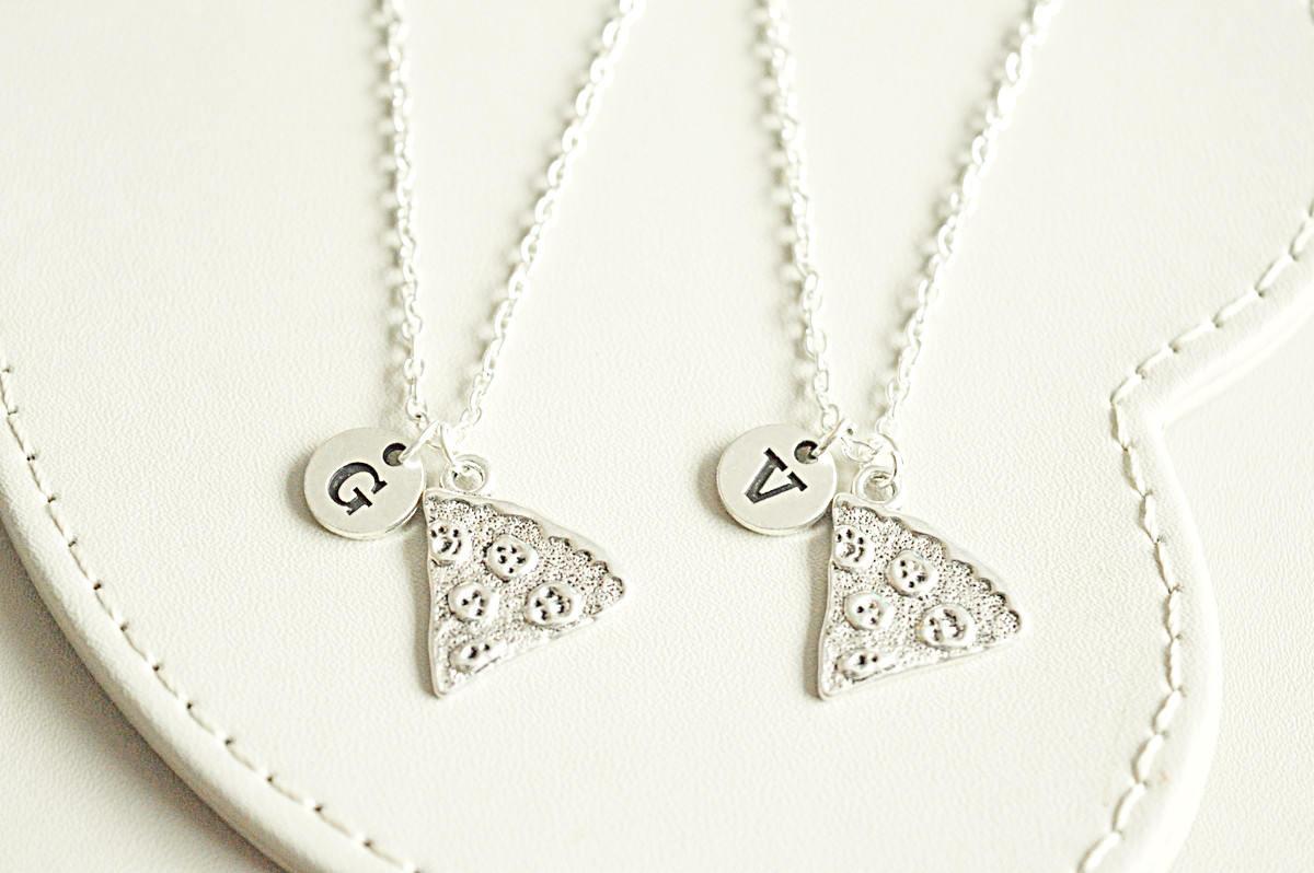 2 3 4 5 6 7 8 best friend necklace pizza charm necklace