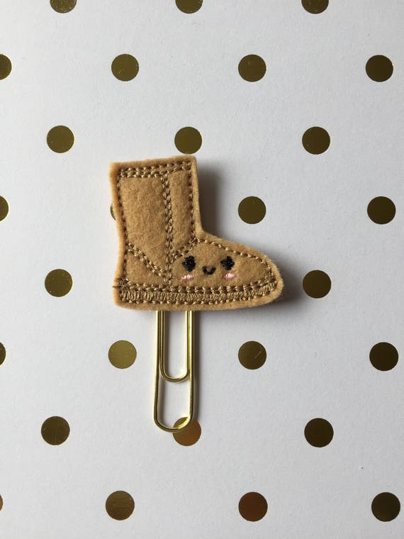 Winter Boot planner Clip/Planner Clip/Bookmark. Boot Planner clip. Ugg planner clip. Shoe planner clip