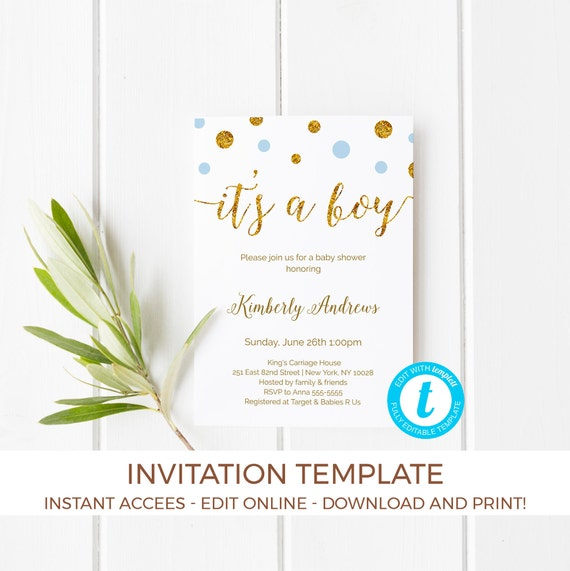 Its a boy baby shower invitation template its a boy invitation il570xn filmwisefo