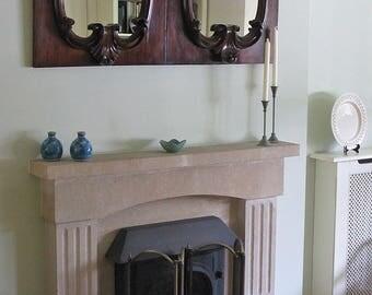 Pair of 19thC Mahogany Framed Baroque Style Wall Mirrors