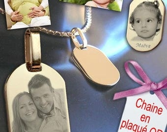 Photo engraving personalized jewelry